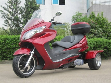 150cc Cyclone Trike (Color: Burgundy)