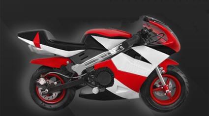 The Brand New 47cc 2 Stroke Gas Pocket Bike! (Color: Red)