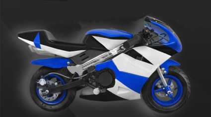 The Brand New 47cc 2 Stroke Gas Pocket Bike! (Color: Blue)