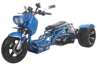 150cc Maddog Air Cooled Single Cylinder 4-Stroke Trike Moped Scooter (Color: Blue)