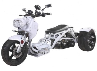 150cc Maddog Air Cooled Single Cylinder 4-Stroke Trike Moped Scooter (Color: White)