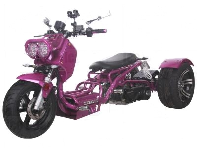 150cc Maddog Air Cooled Single Cylinder 4-Stroke Trike Moped Scooter (Color: Purple)