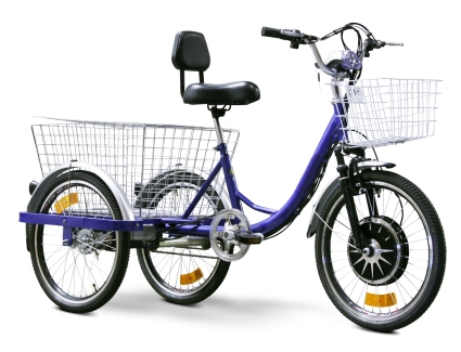 EW88L Electric Trike Bicycle Moped With 450 Watt Motor (Color: Blue)