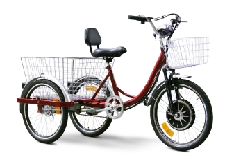 EW88L Electric Trike Bicycle Moped With 450 Watt Motor (Color: Red)